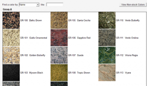 Selecting a color for the countertops