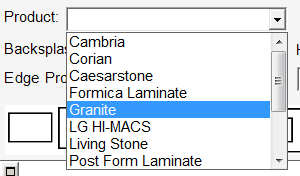 Selecting the granite product for the countertops