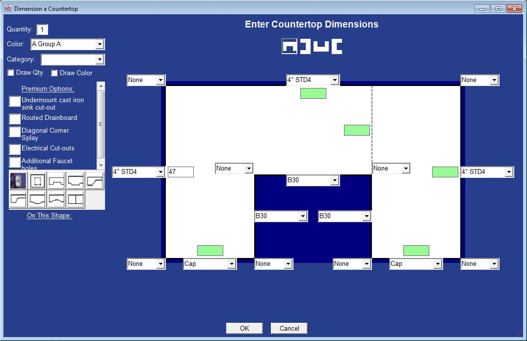 QuickQuote - Countertop Estimating and Drawing Software